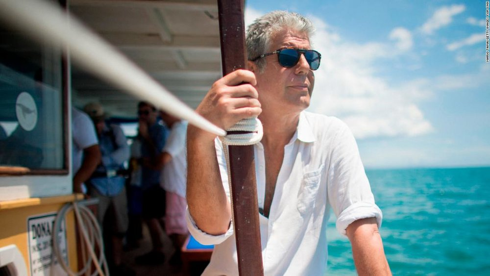 Bourdain, photo via  CNN