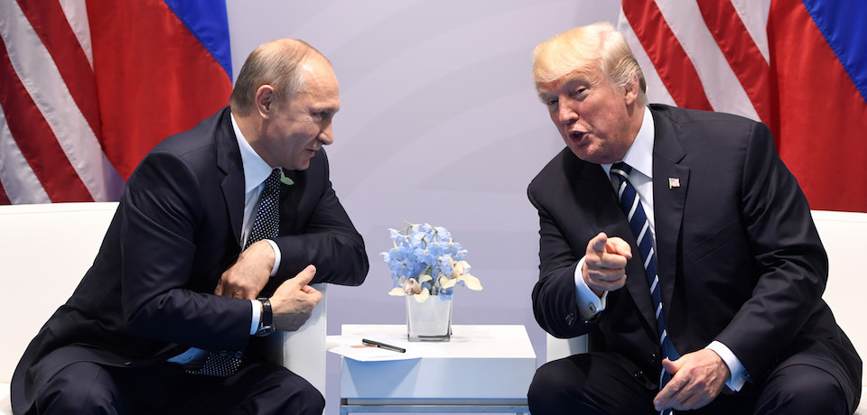Trump and Putin, photo via  CNN