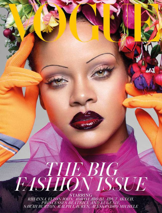 Rihanna, photo via  Nick Knight/ British  Vogue