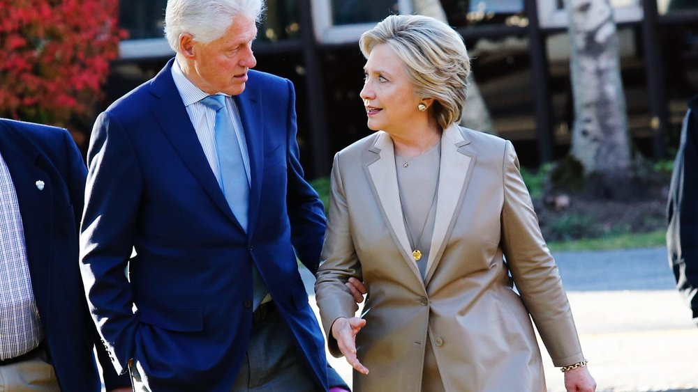 The Clintons, photo via Getty Images