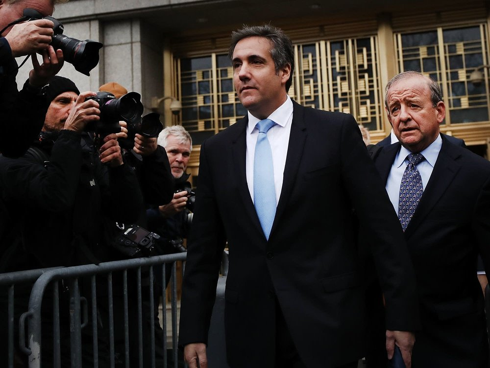 Cohen today, photo via  NBC News