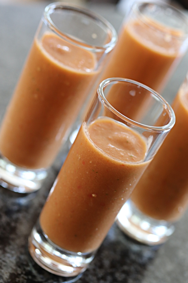 Serve Gazpacho in shooters for a crowd!