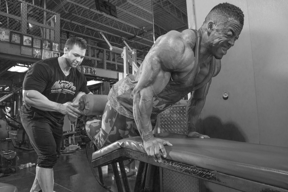 IFBB Pros Ricardo Correia and Regan Grimes