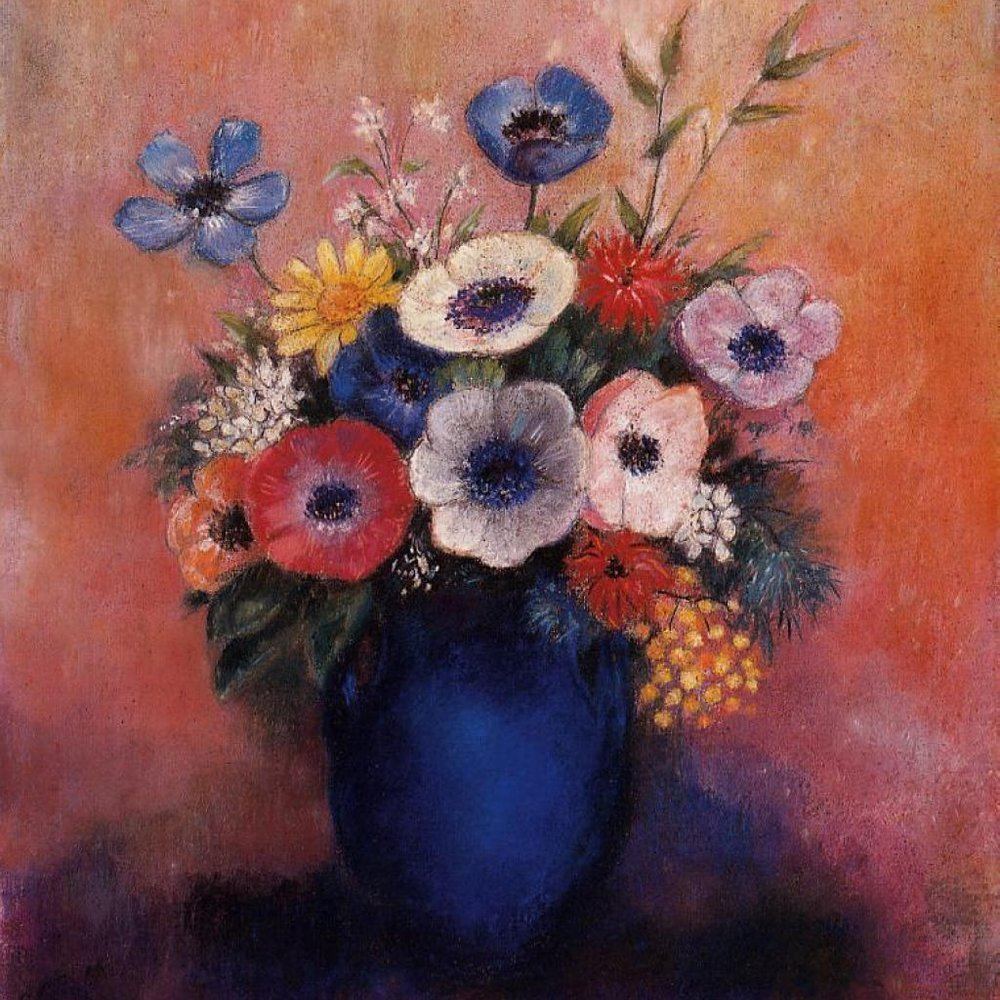 Odilion Redon  Dreaming in Flowers