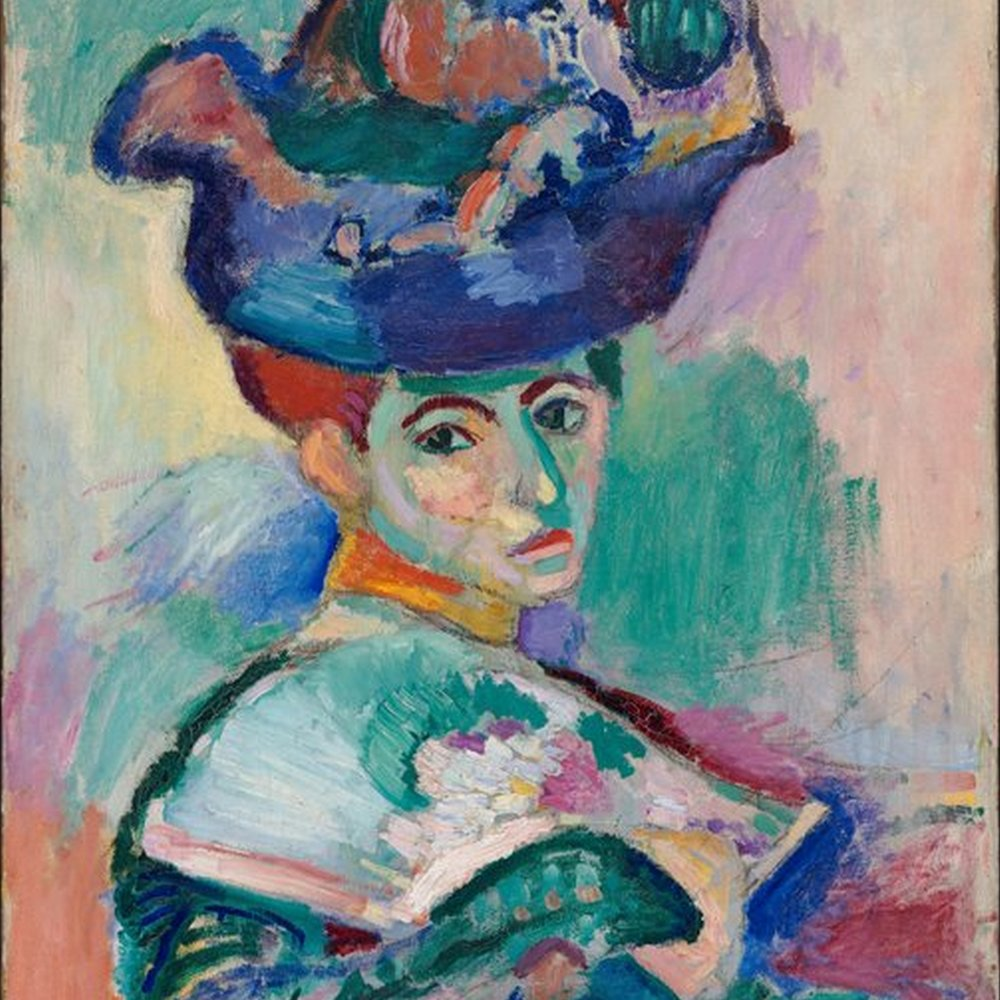 Impressionism (Post)- Matisse, Henri - Woman with a Hat (1905).jpg