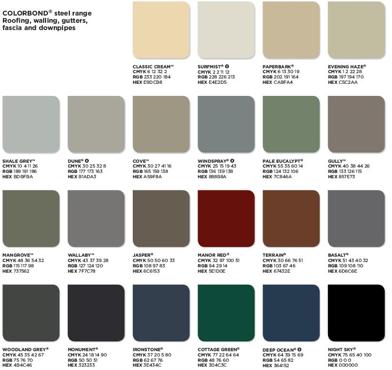 Roofing Colours Stoddart Group