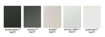 Colorbond Matt Sample Colors