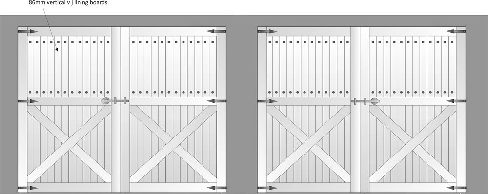 Wedberg Custom Garage Door Sketch