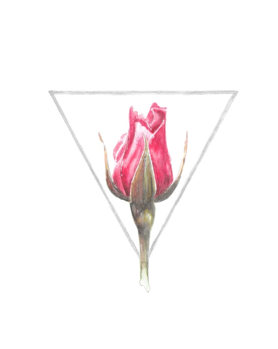 Keita Thomas - Rose Watercolour - She Loved Herself Like a Rose