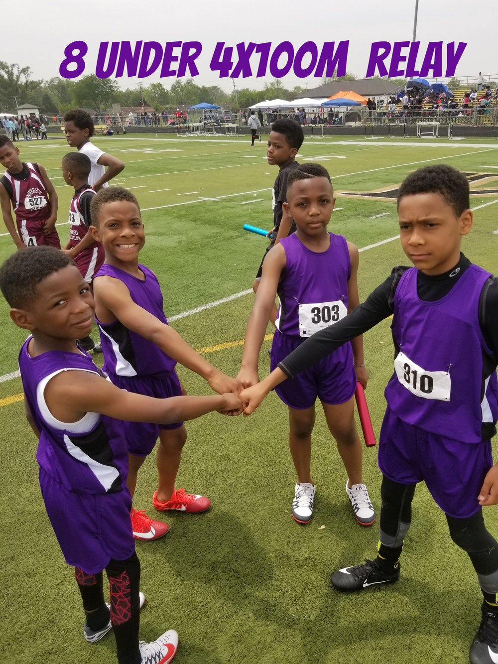 8 & Under 4x100m Meet Champion, Martez, Xavier, Te'Jon, Zaven