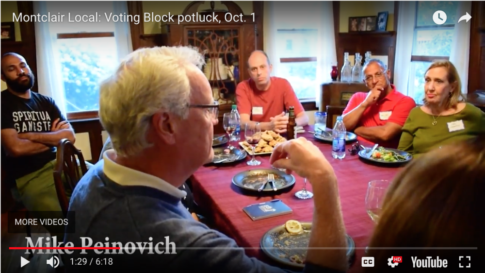 Video: Montclair residents discuss governor's race at Voting Block potluck –Montclair Local