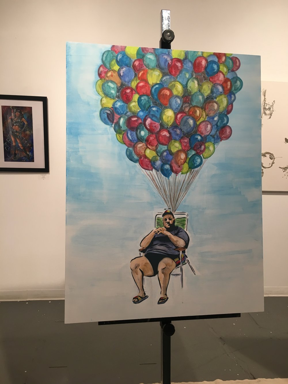 "Jon ""Lank"" Conner painted a creative interpretation of Chris Christie in the infamous beach photo by NJ Advance media."