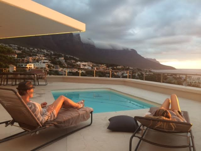 Cheriece and Karla at a resort in Cape Town, South Africa