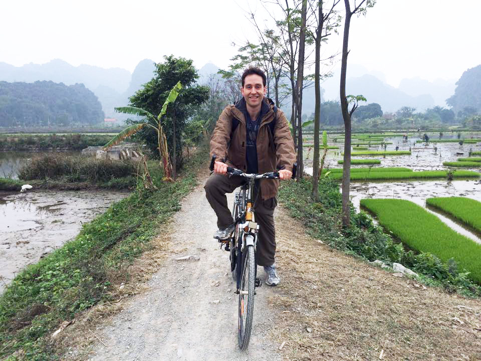 Michael Minarik biking in Vietnam