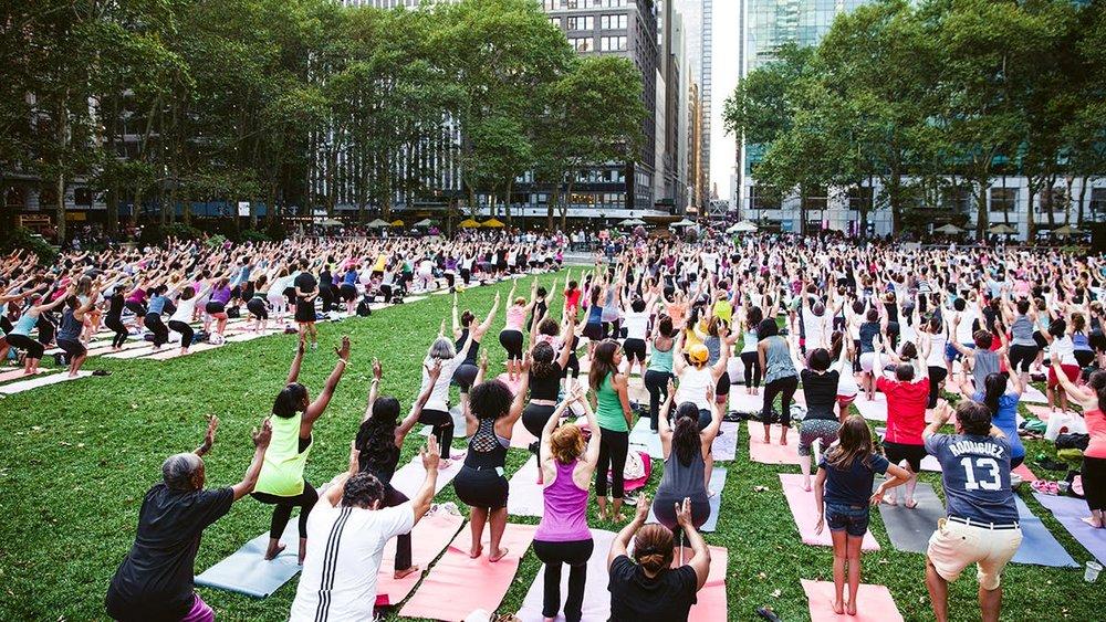 Bryant Park Yoga // PC: Bryant Park