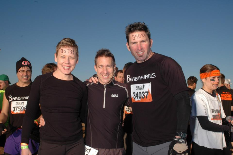 Paul (middle) at marathon with fellow Mirador agent,  Cheriece  (left)