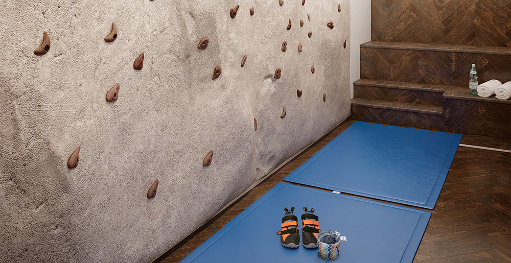 Artist Rendering of Rock Climbing Wall at  The Shephard