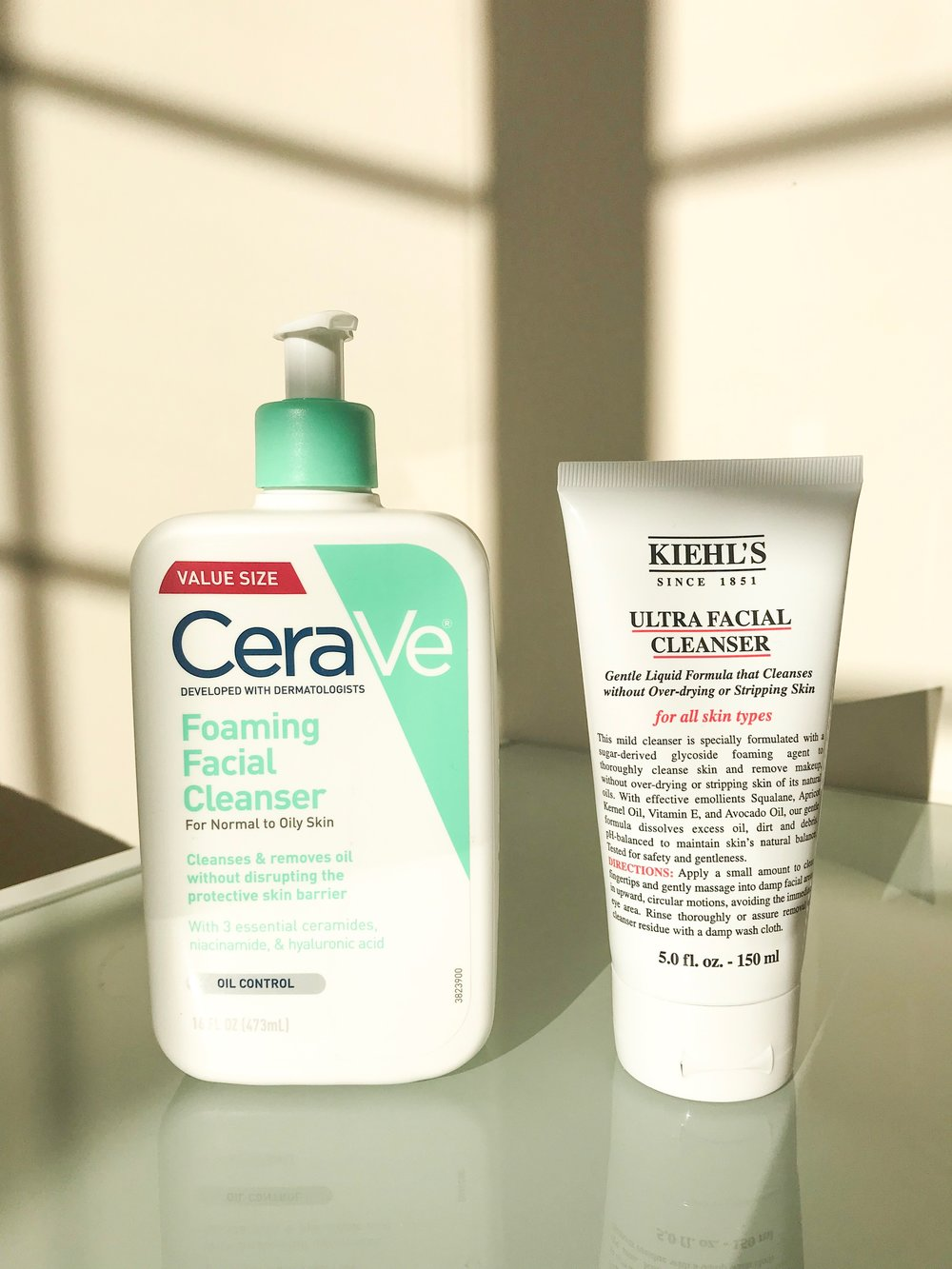 CeraVe Foaming Facial Cleanser - $13.99  vs    Kiehl's Ultra Facial Cleanser - $20.00