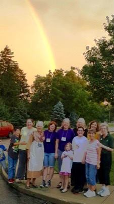 Vacation Bible School 2017 blessed by a rainbow on the last day!