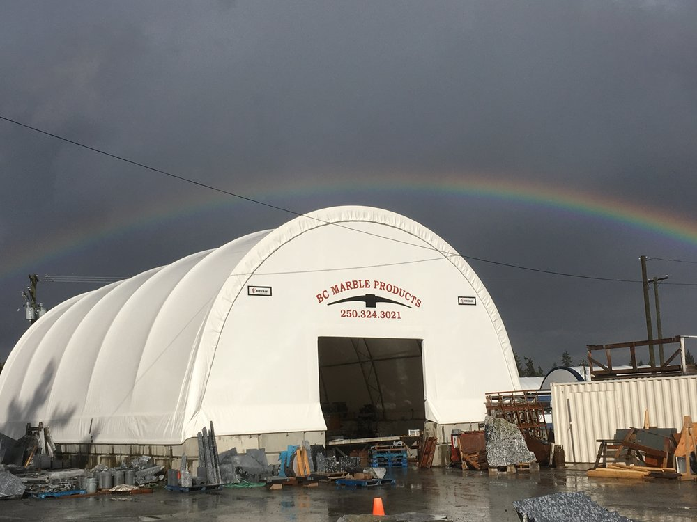 There is amazing stuff happening under the rainbow at BC Marble Products, home of Vancouver Island's finest west coast marble.