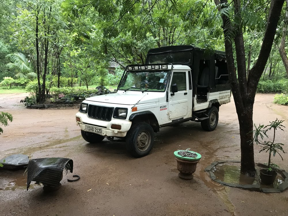 My trusty steed during fieldwork, parked outside the bungalow where I'll be staying: a 4x4 vehicle that easily traverses the rough terrain that's sometimes present in Wasgamuwa.
