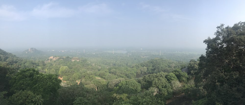 The view of Mihintale from atop the Maha Stupa. You can see the whole town from here. See that tower in the distance towards the right? That's where Rajarata University is.
