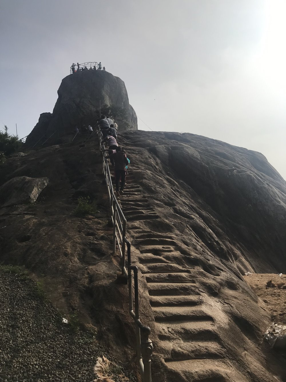 The start of the climb to the top of Aradhana Gala.