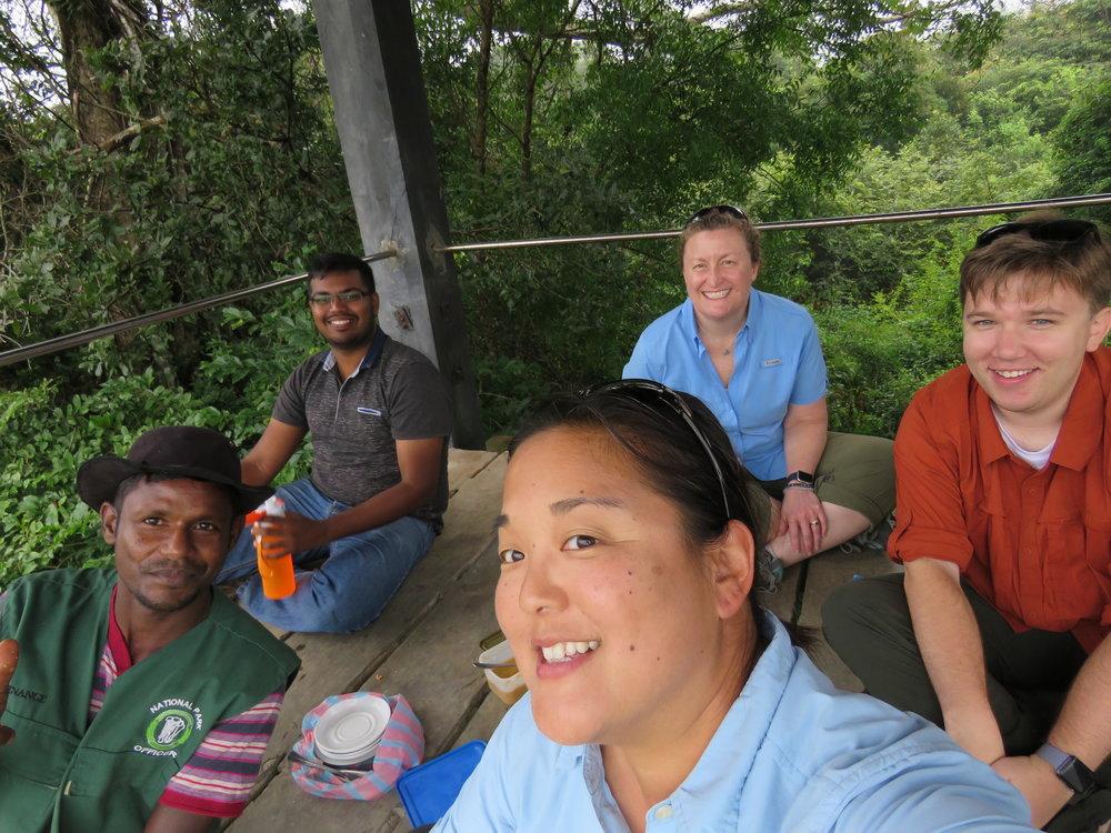 A great Sri Lankan breakfast in the tower at Wasgamuwa. Photo: Wendy Kiso.