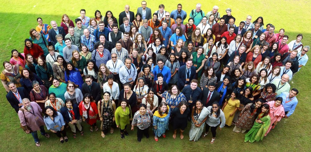 A shot of the South and Central Asia Fulbrighters, taken on the first morning of the conference. Photo by USIEF.