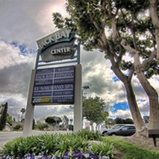 BACK BAY CENTER  A 54,000+ sq' mixed retail and office development in Costa Mesa, CA. Home to the historic Irvine Ranch Market. Repositioned a once-sleepy office phase to a variety of vibrant service retail uses.