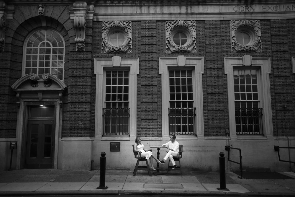 A couple in love in Old City Philadelphia