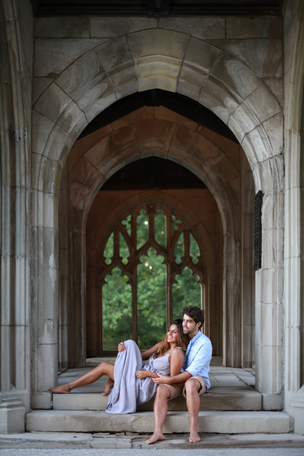 Old valley forge engagement photo