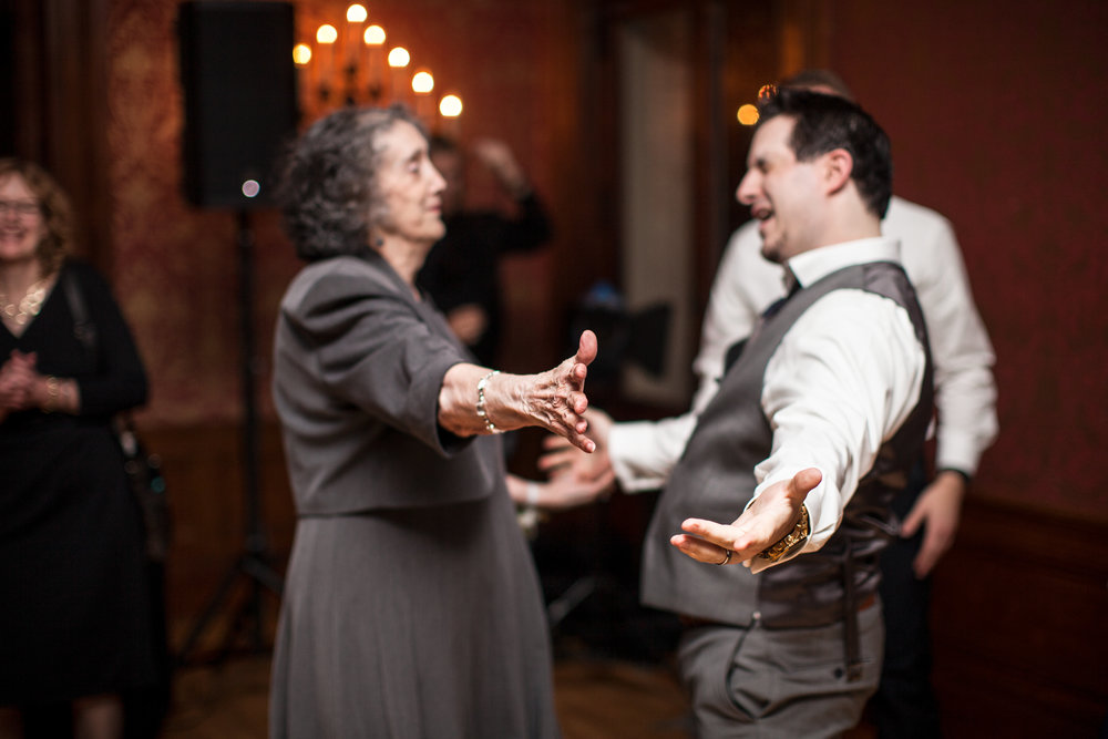 Groom dancing with his grandmom