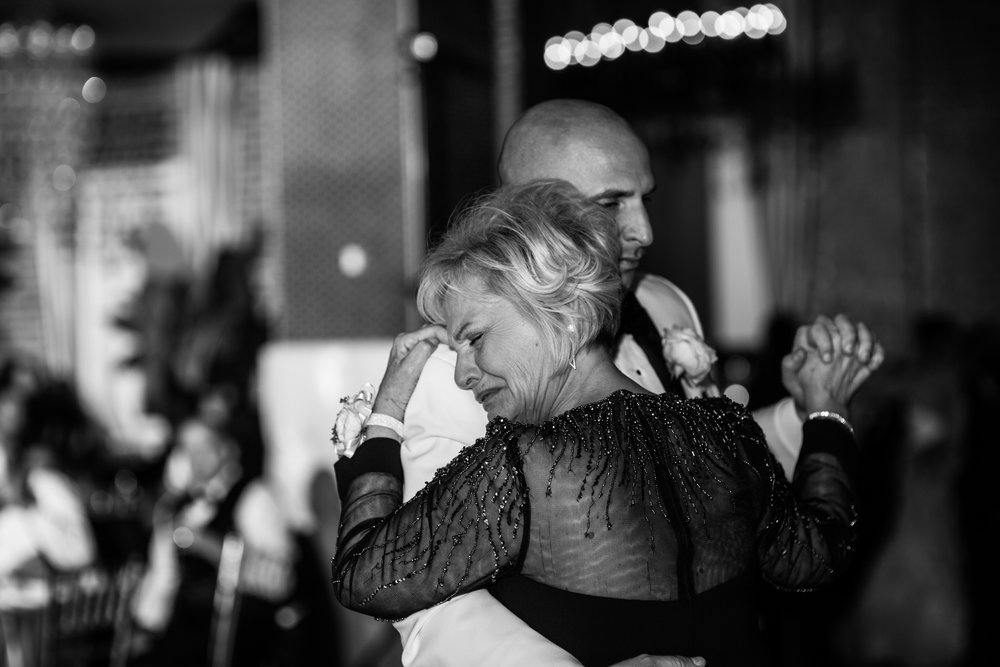 Mother- son dance in Tendenza wedding reception