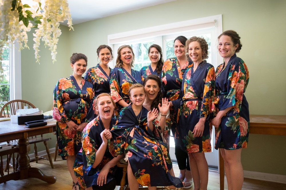 Big bridal party photos