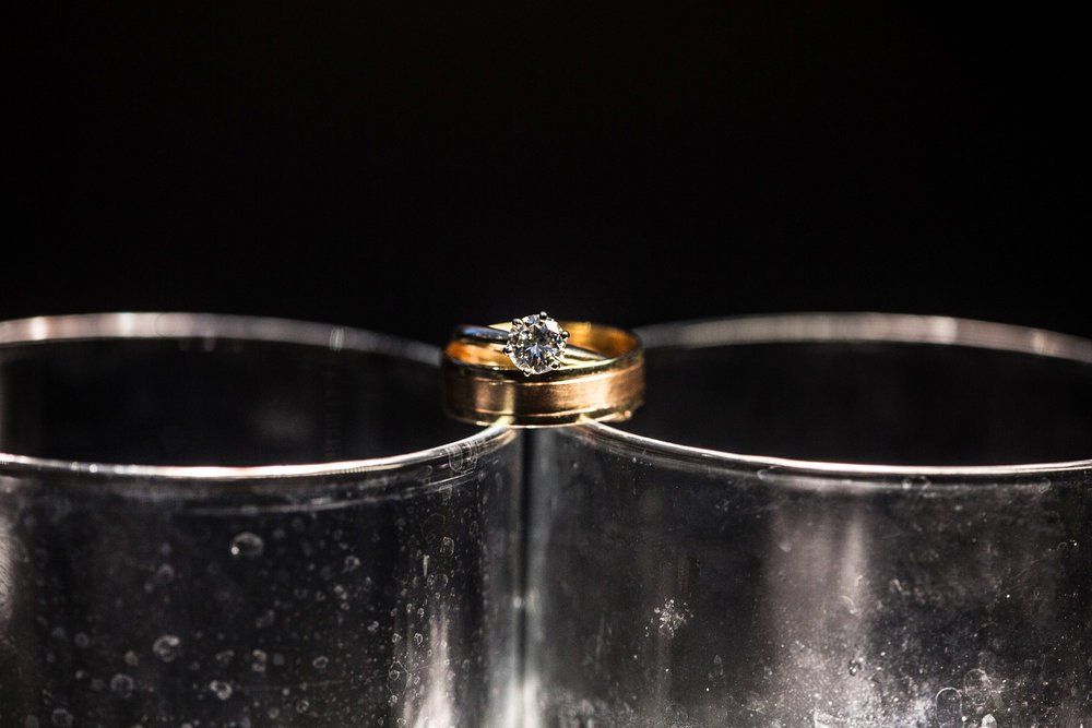 Wedding rings at Mendenhall Inn in Media