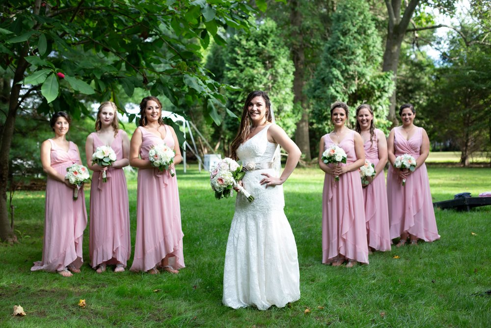 pink dresses for bridesmaids