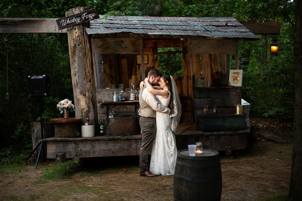 whiskey shack wedding photos