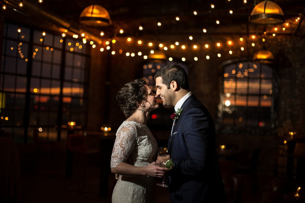 philly distillery wedding photos