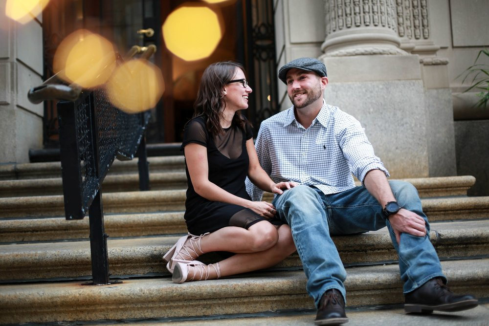 engaged couple in philadelphia old city.jpg