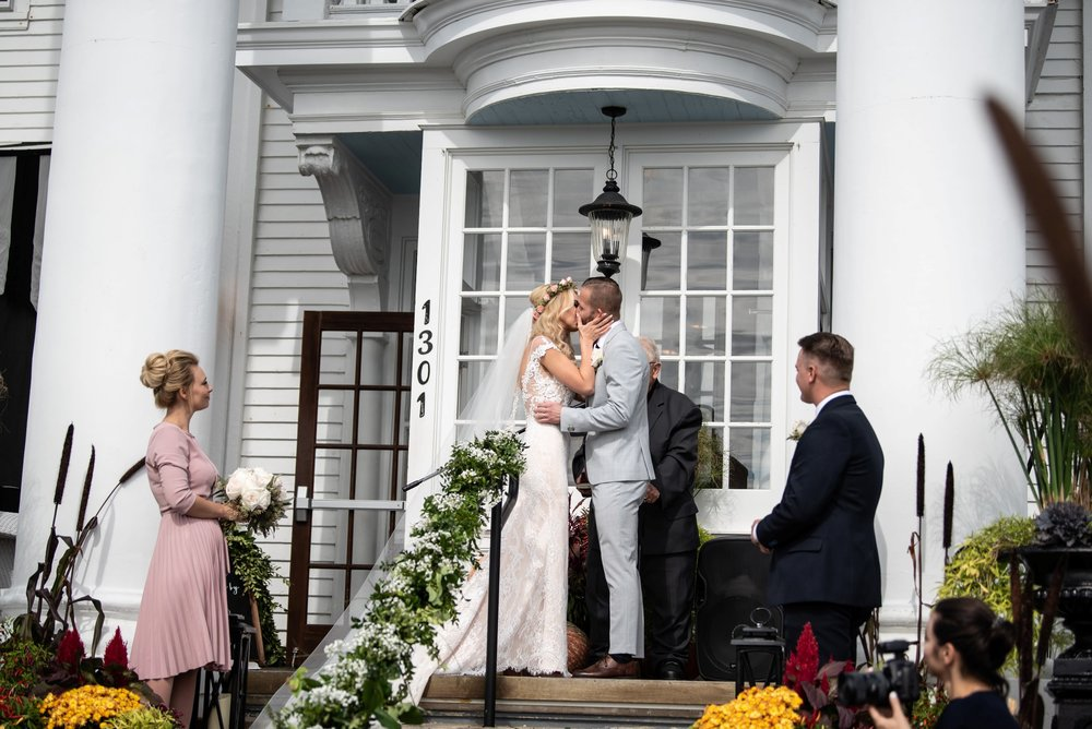 first kiss peter shields inn wedding photos cape may nj