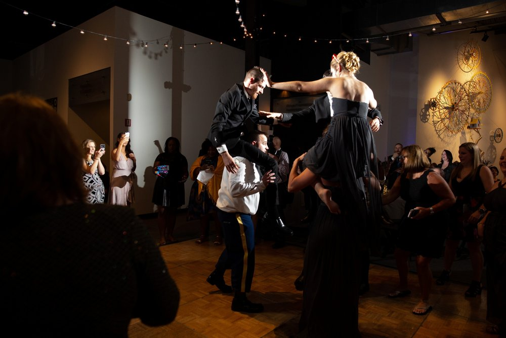 bridal party dance floor photos