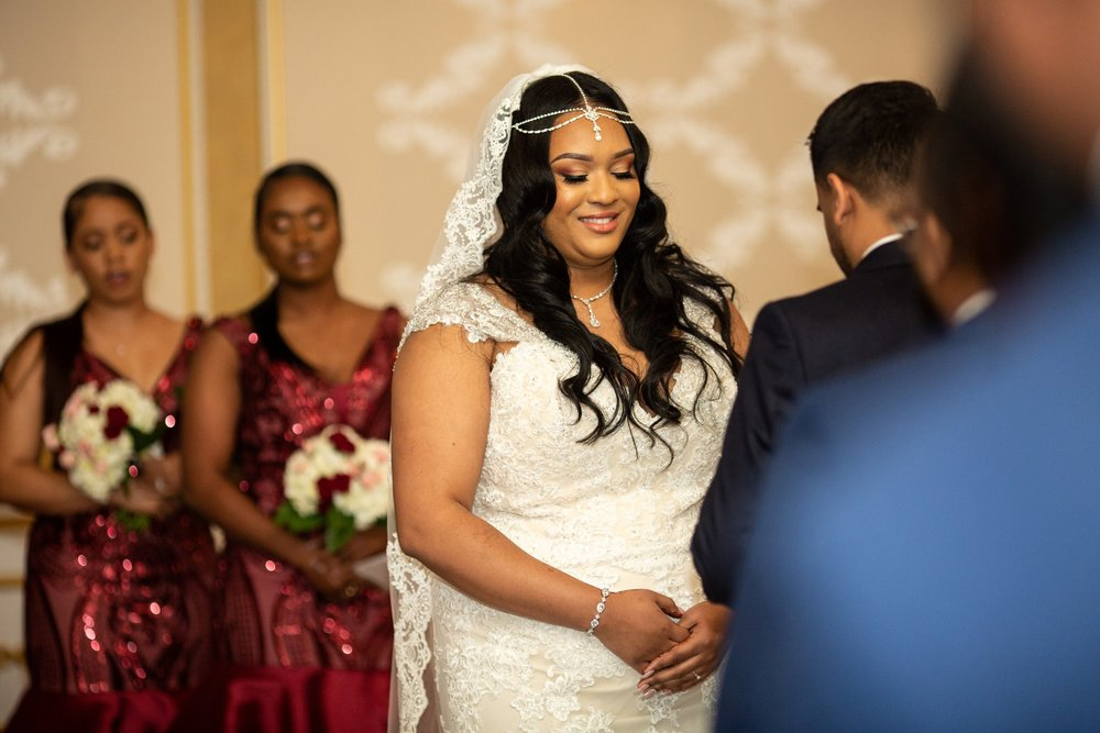 Bride and groom exchange vows in Adelphia