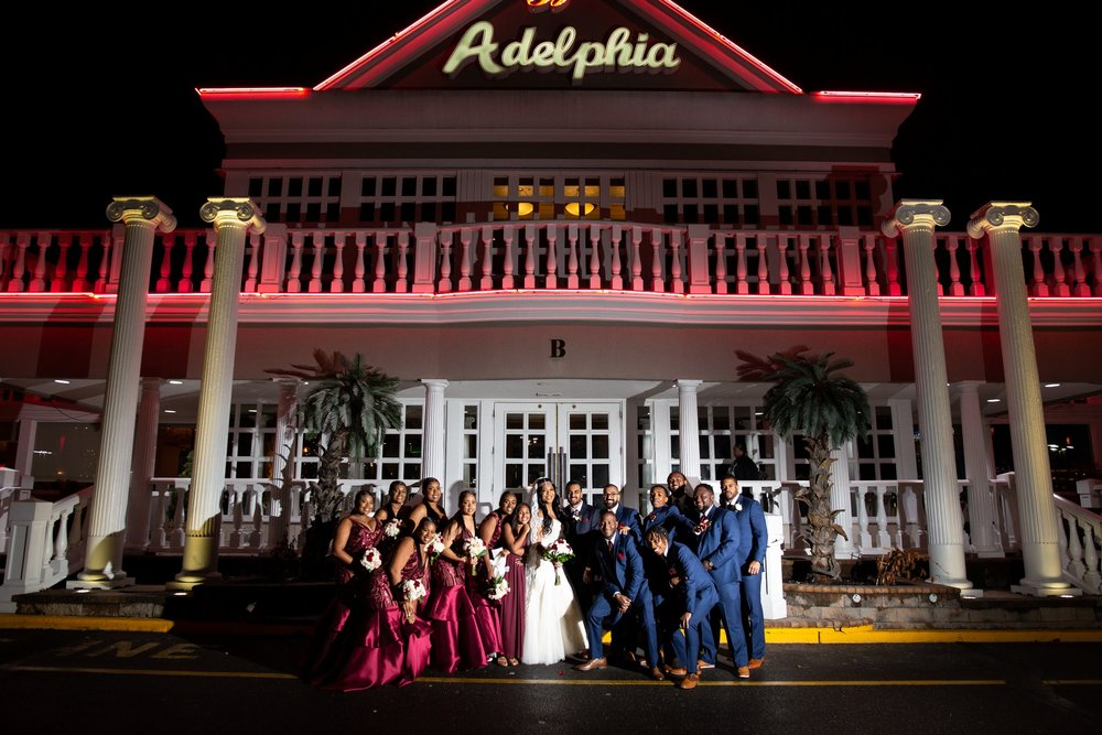Bridal party Adelphia wedding photos
