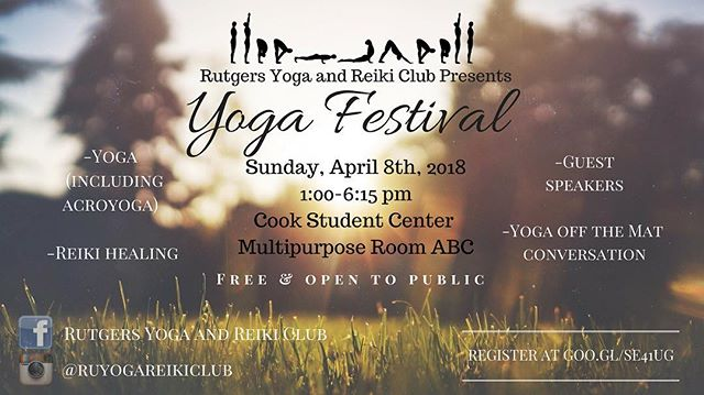 We are cohosting @ruyogareikiclub's annual Yoga Festival! There will be yoga sessions, including acroyoga, Reiki, meditations and speakers! The event is free, but don't forget to rsvp with the link in our bio! • •  #Reiki #spirituality #conscious #awakened #spirit #universe #vibes #yoga #peace #love #energy