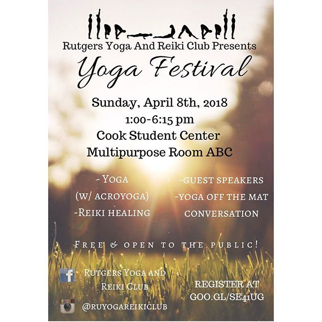 Our yoga festival is coming up soon! Don't forget to register for your tickets!! •  #Reiki #spirituality #conscious #awakened #spirit #universe #vibes #yoga #peace #love #energy #nature #sacredgeometry #newjersey