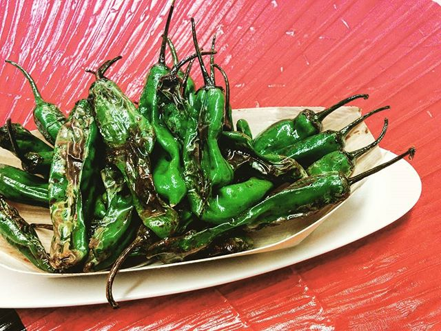 "Shishito peppers! 👌  Simple sauté with soy sauce and sesame oil. We'd definitely vote it ""Best smelling."" 🤓  So good, so risky (Some of them are hot)"