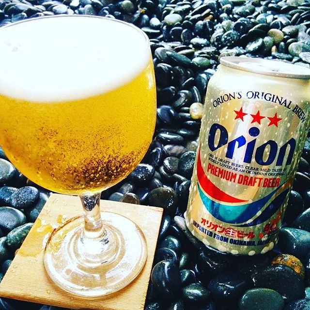 Orion Beer - One of our personal favorites. A light, Japanese rice lager from the tropical islands of Okinawa. Pairs perfectly with most items, and a refreshing beer for the warm weather 🍻