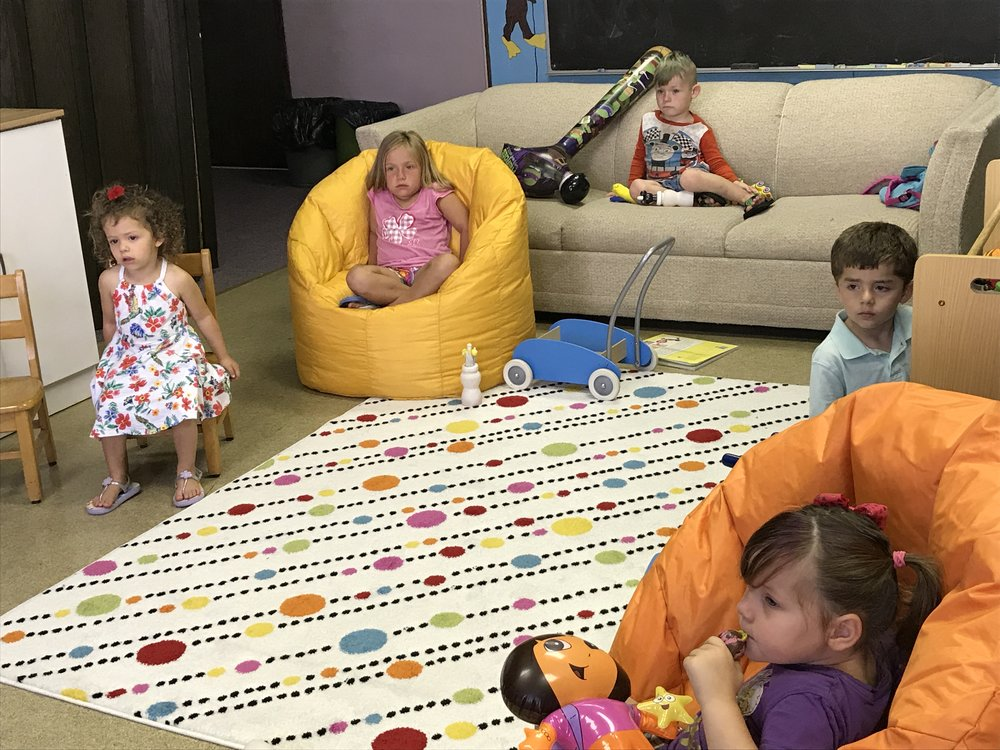Nursery - Childcare is available for infants, toddlers, and preschoolers during Sunday morning worship. Parents/grandparents are invited to bring children in to the service for communion.