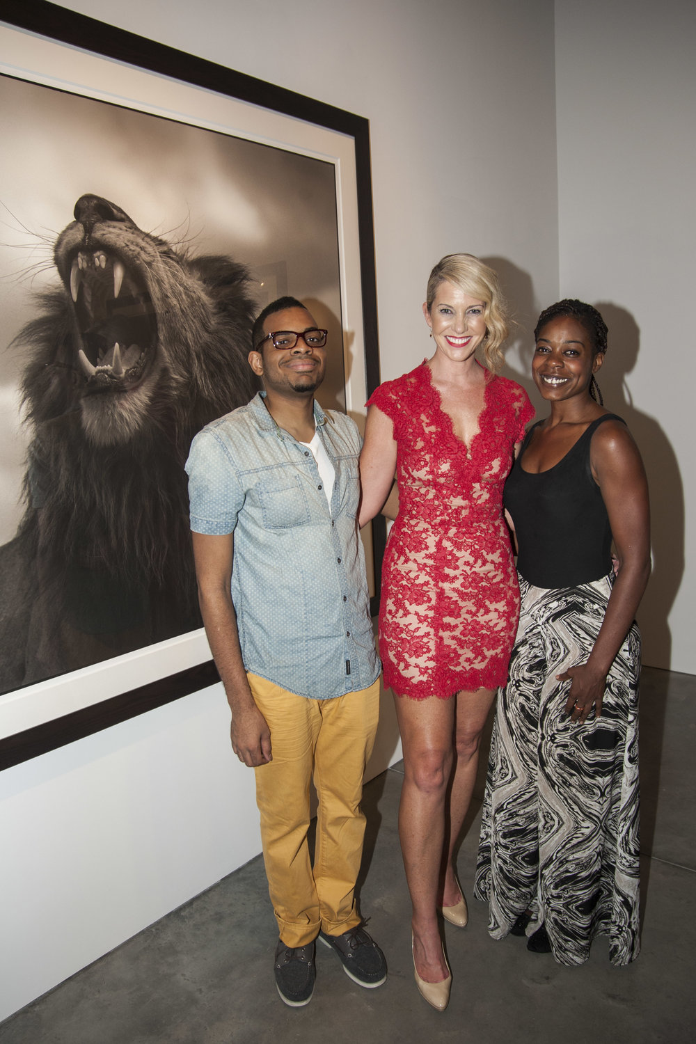 SARAH HASTED AT NICK BRANDT OPENING WITH PARSONS ALUMNI